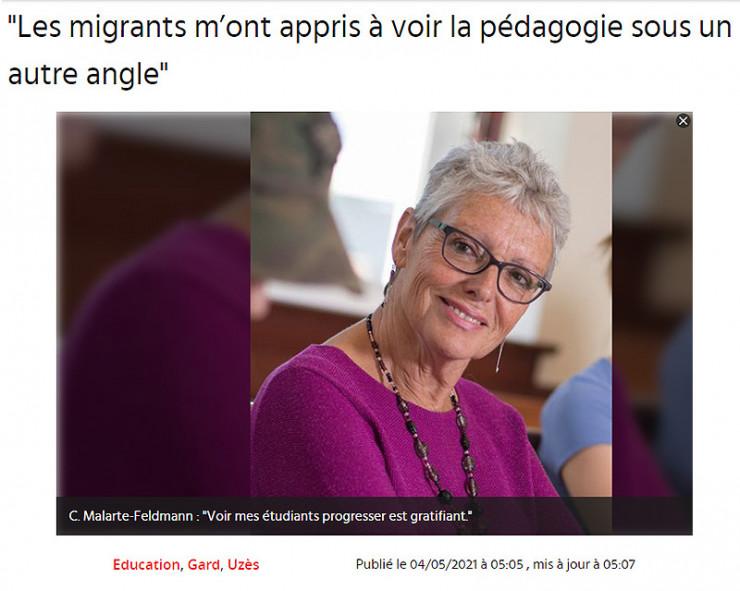 04/05 | LES MIGRANTS M'ONT APPRIS À VOIR LA PÉDAGOGIE SOUS UN AUTRE ANGLE