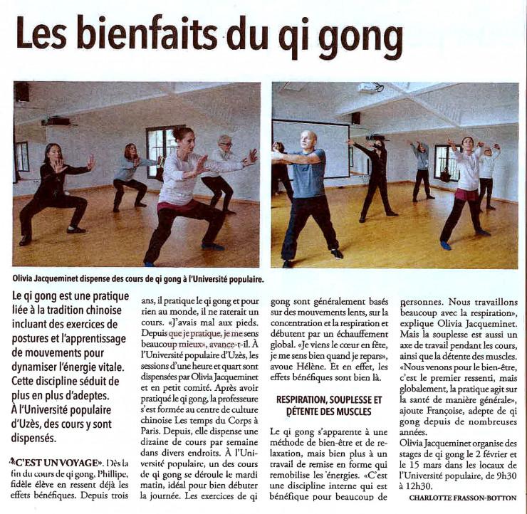 23/01 | Les bienfaits du qi gong