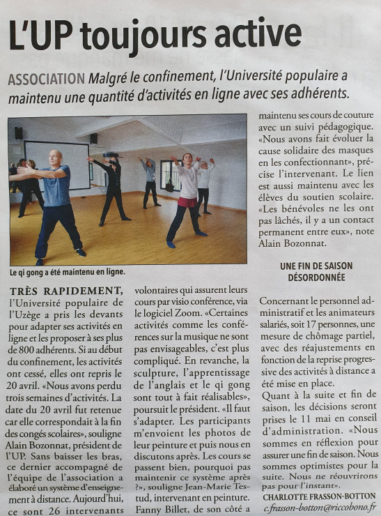 07/05 | L'UP toujours active